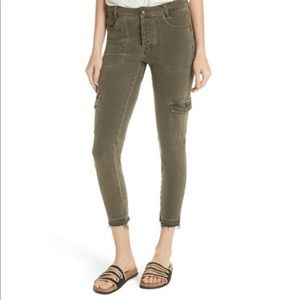 FREE PEOPLE utility cargo skinny jeans